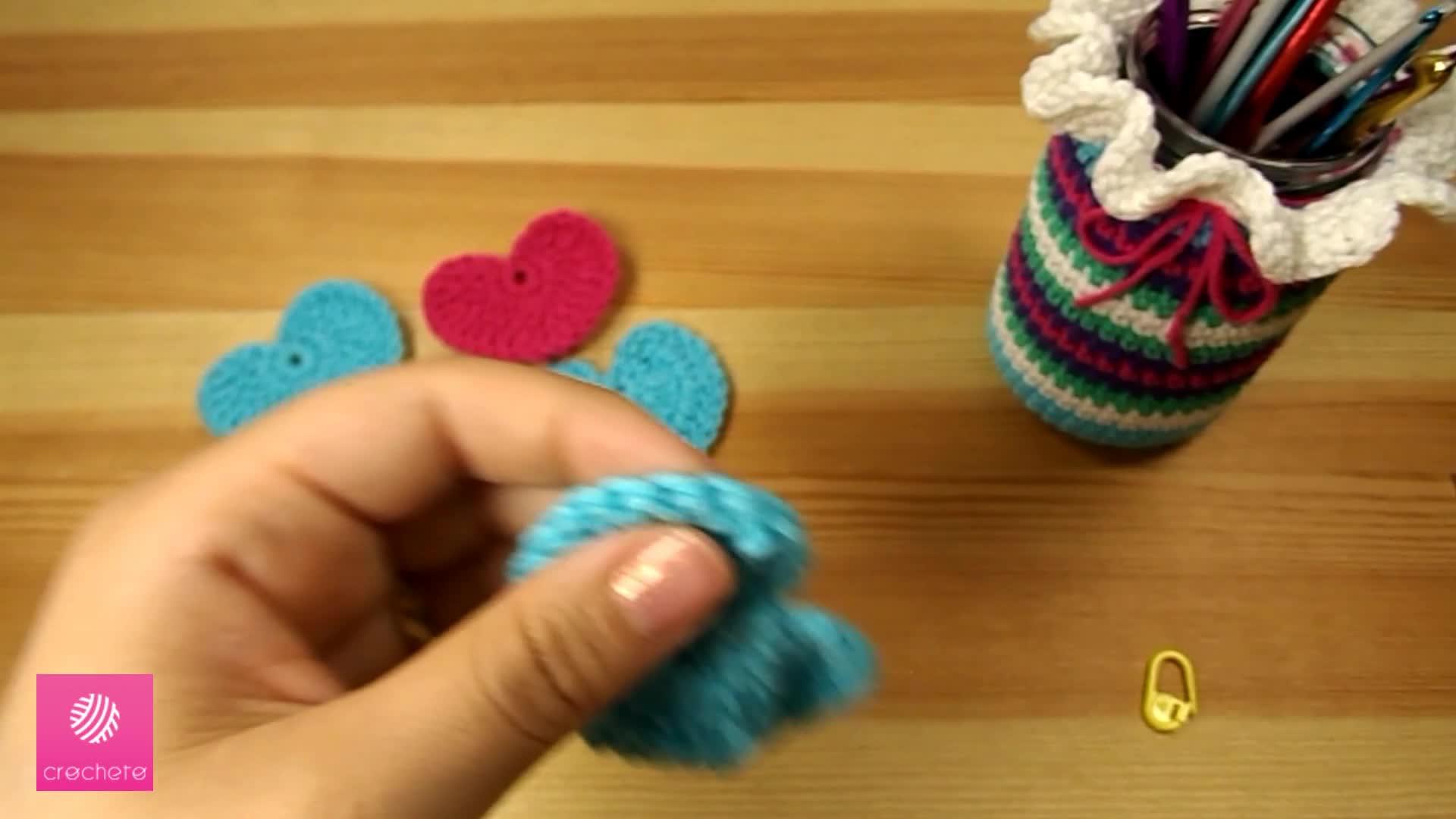 تعليم الكروشيه القلب البسيط Learn how to Crochet Simple Heart - Crochet heart pattern 10