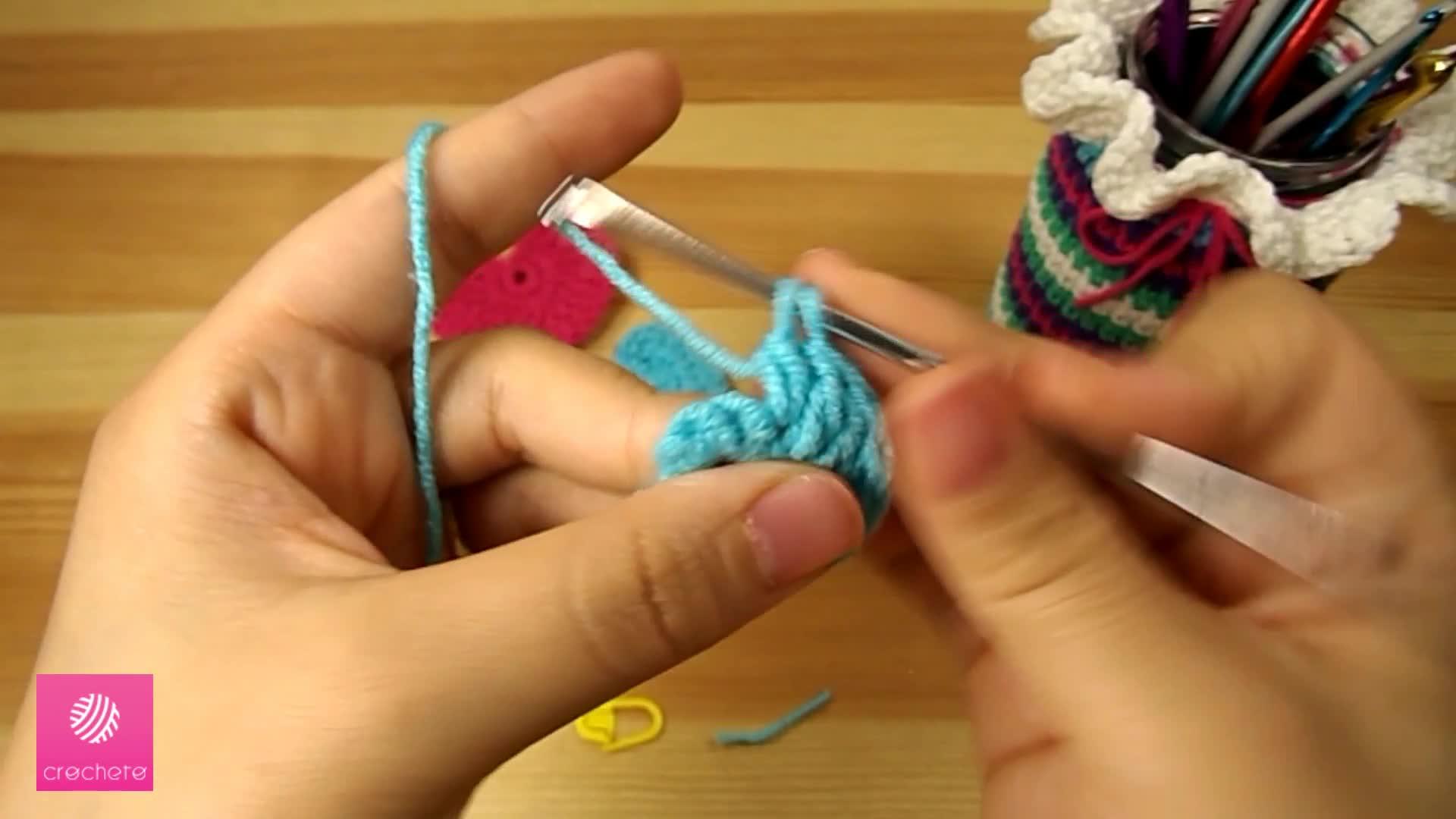 تعليم الكروشيه القلب البسيط Learn how to Crochet Simple Heart - Crochet heart pattern 5