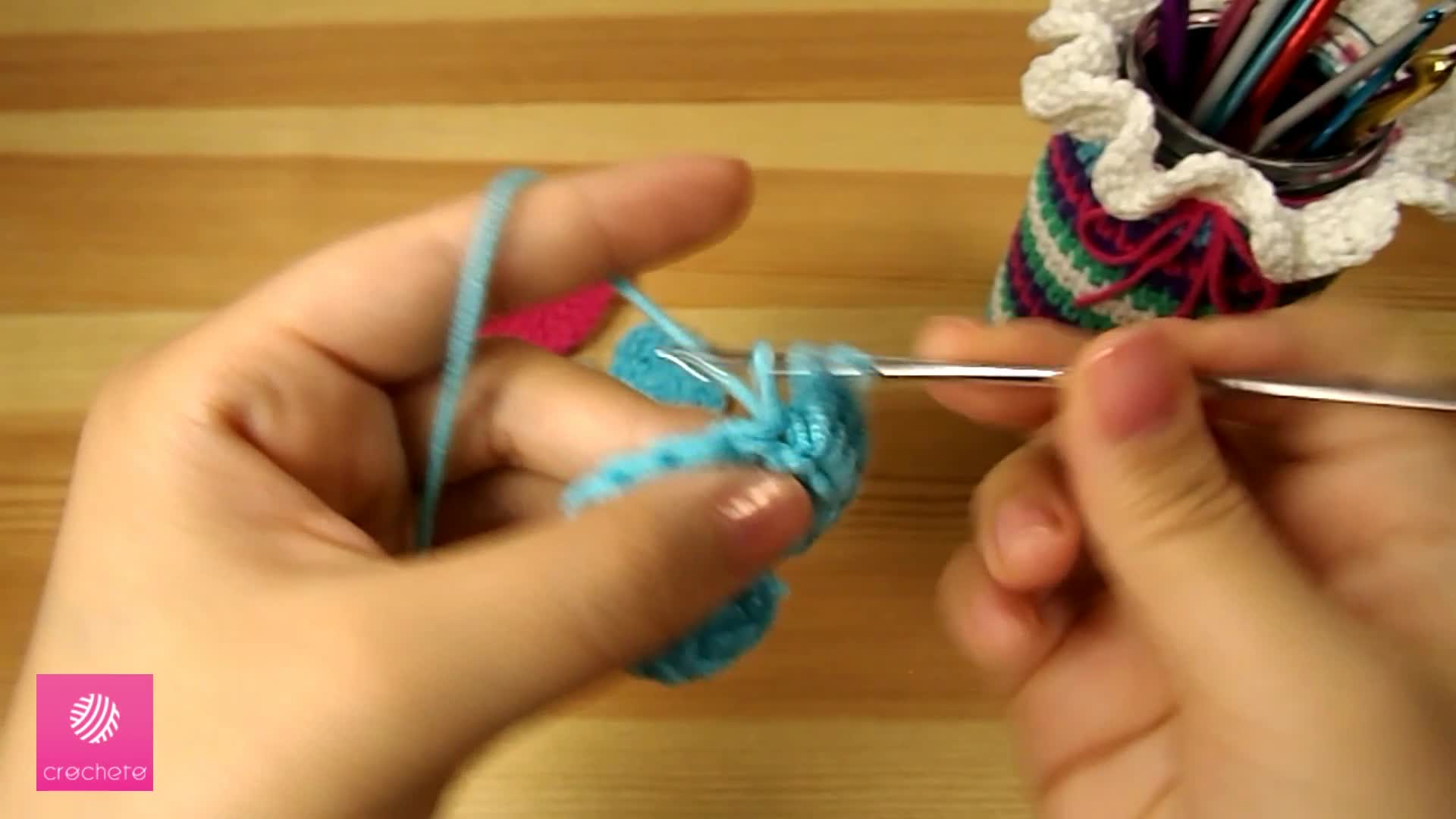 تعليم الكروشيه القلب البسيط Learn how to Crochet Simple Heart - Crochet heart pattern 7