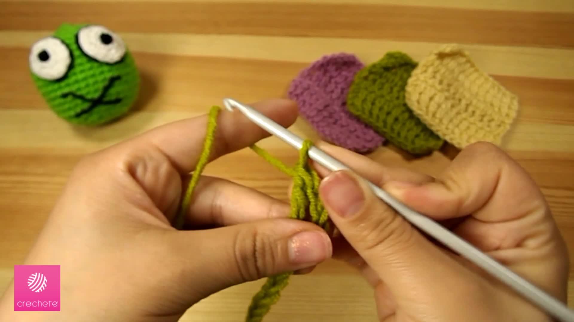 تعليم الكروشيه : غرزة العمود بلفتين - Learn how to Crochet for beginners: Treble Crochet Stitch