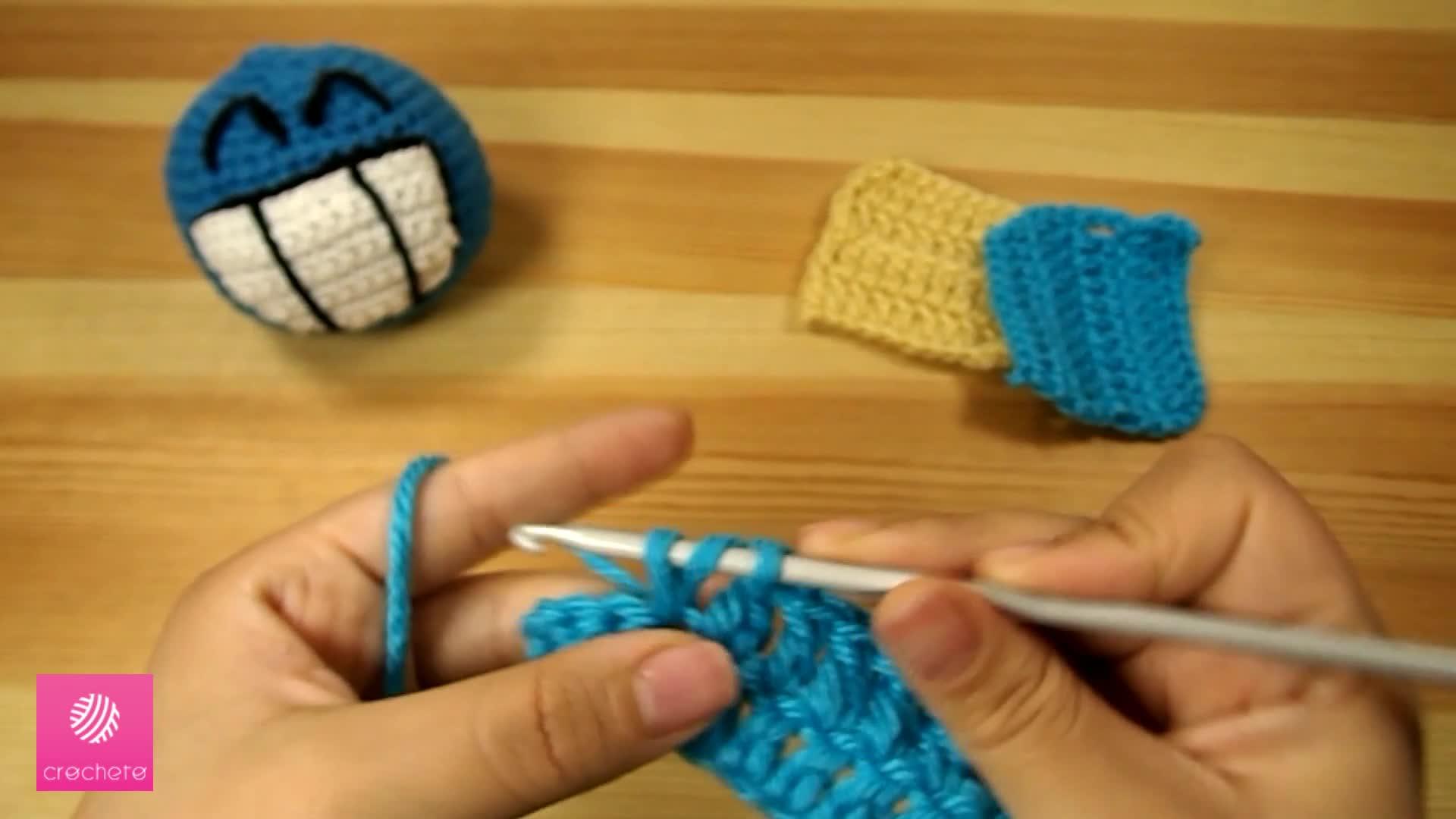 تعليم الكروشيه غرزة العمود بلفه -البريدة - Learn how to Crochet for beginners Double Crochet 6