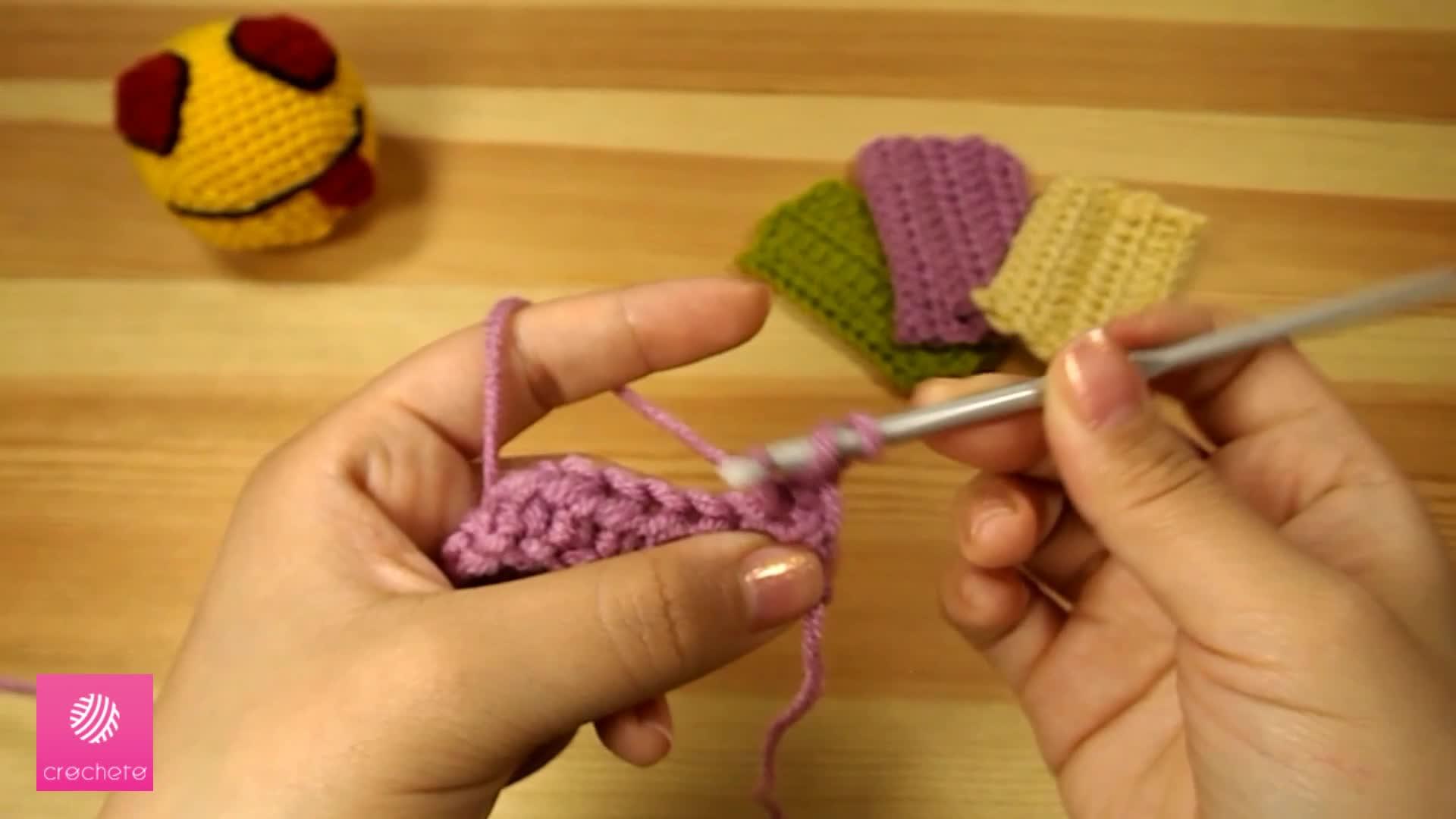 تعليم الكروشيه غرزة النصف عمود - Learn how to Crochet for beginners Half Double Crochet Stitch 5