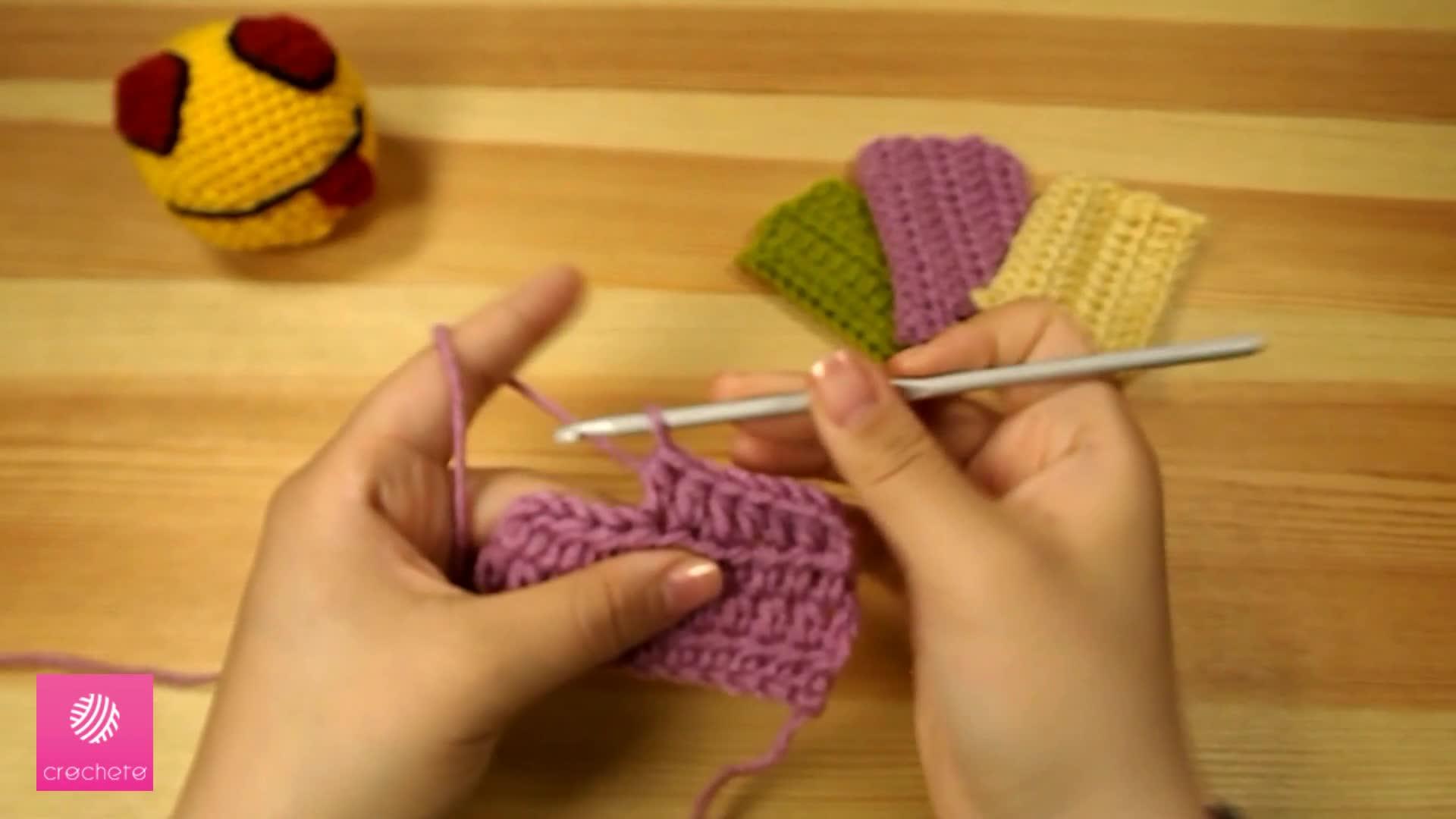 تعليم الكروشيه غرزة النصف عمود - Learn how to Crochet for beginners Half Double Crochet Stitch 8